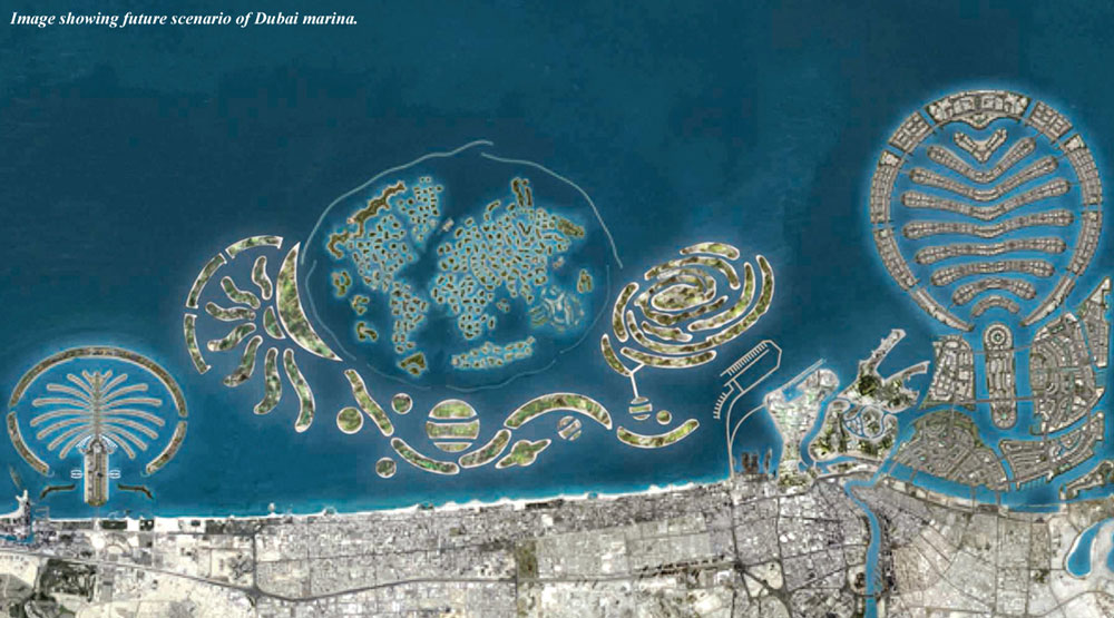 Dubai grows on the sea  Historical Views  Earth Watching