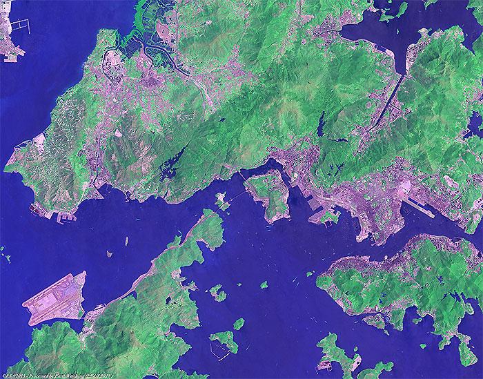 Hong Kong International Airport - Change Detection - Earth Watching