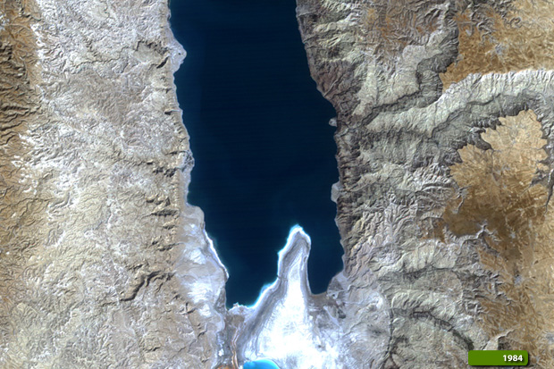 The Dead Sea - Image of the Week - Earth Watching Dead Sea On The World Map on