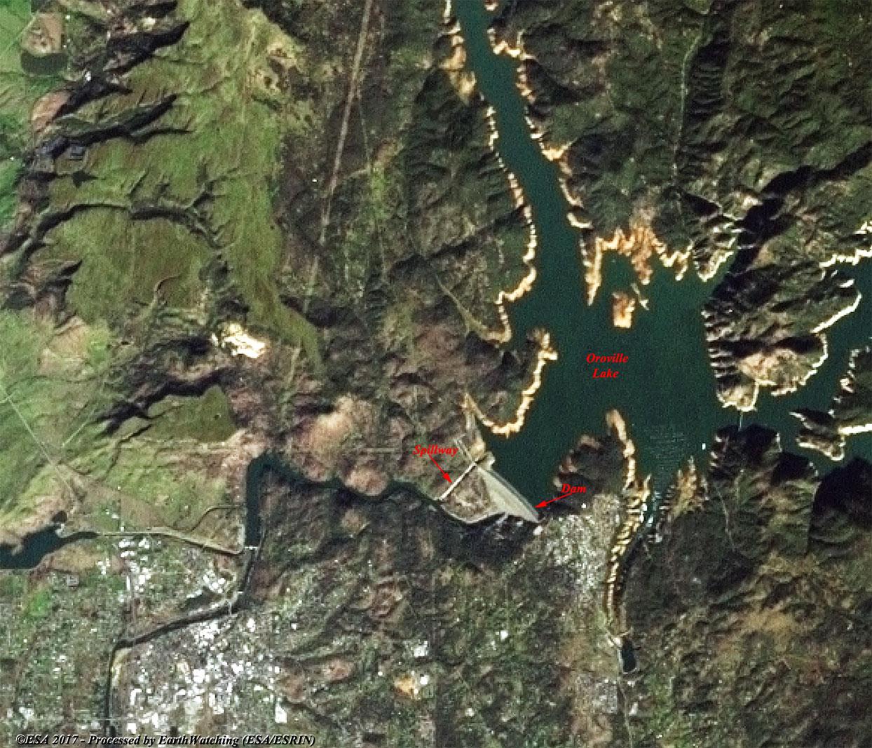 Oroville Dam crisis - Environment Hazards - Earth Watching - ESA