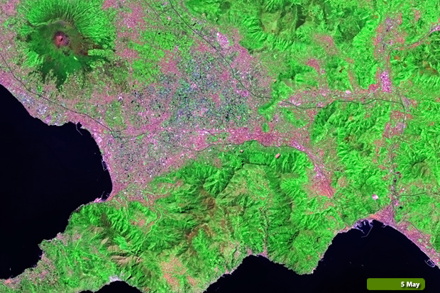 Amalfi fires - Landsat 8 on 5 May
