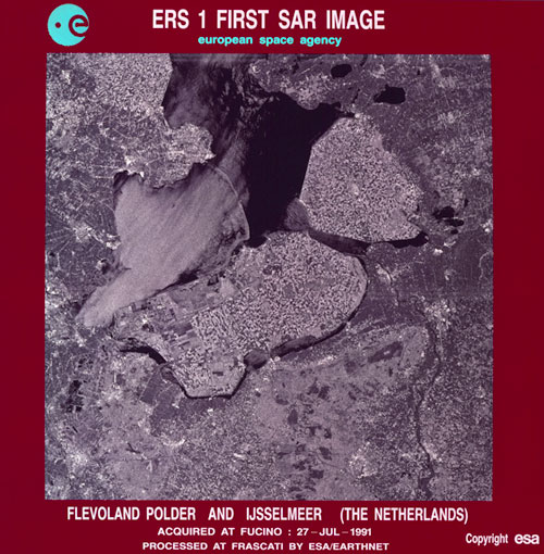 First ERS-1 image