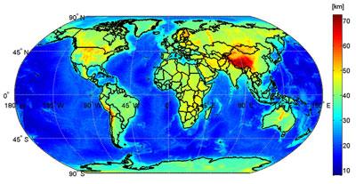 Global Moho
