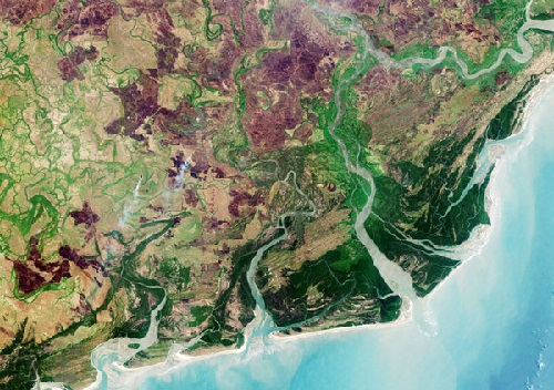 Zambezi Delta diversity captured by Sentinel-2A on 28 September 2016