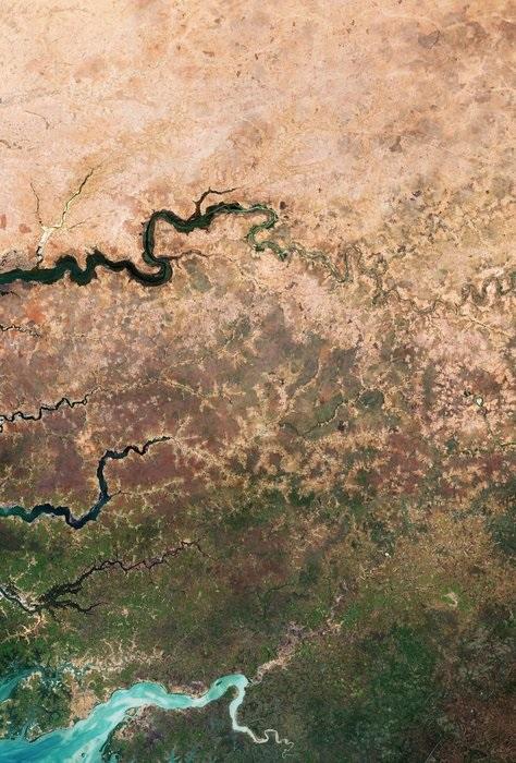 Edge of the dry desert in west Africa