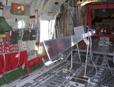 L-band radiometer onboard a C-130 aircraft