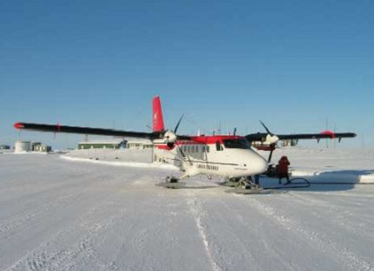 Airborne survey performed using a Twin-Otter