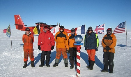 Survey team at the South Pole