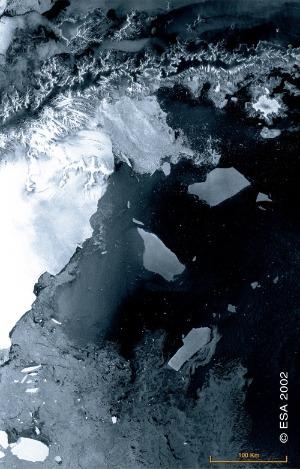 ASAR Image of Antarctic Peninsula