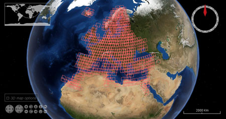 Landsat 5 TM and 7 ETM+ cloud free European coverage