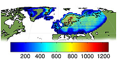 Kiruna Landsat TM GTC density map