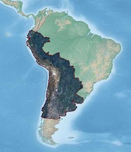 RapidEye South America Coverage Map