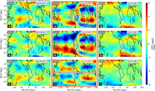 Geographic distributions of IHFACs estimated from CryoSat-2 data.