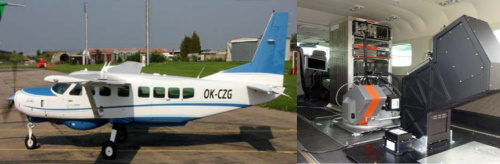 Cessna Grand Caravan C208B and HyPlant installed in the front and TASI sensor senor in the second hatch